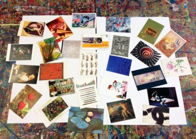 Arbeiten mit Kunstpostkarten