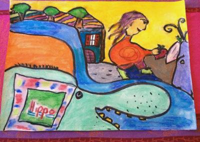 """Gemeinschaftsbild """"Mädchen mit Hippo ..."""""""