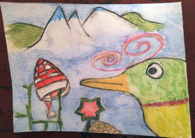 """Gemeinschaftsbild """"Der Vogel im Winter"""""""