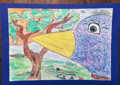 """Gemeinschaftsbild """"Der Vogel und seine Freunde"""""""