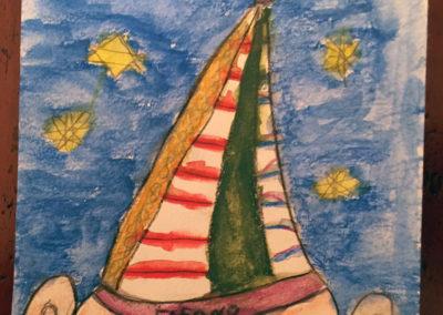 """Gemeinschaftsbild mit Kindern """"Gregor mit der Zipfelmütze"""""""