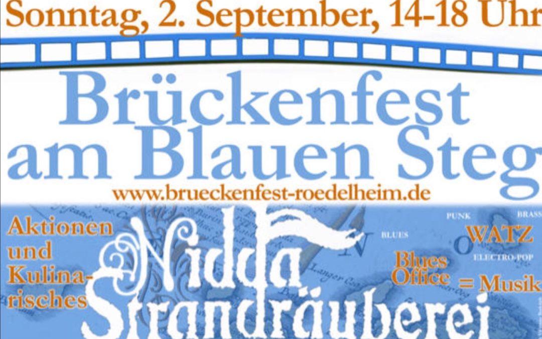 Brückenfest am blauen Steg